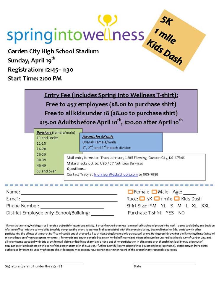 Spring Into Wellness April 19th – Greater Garden City