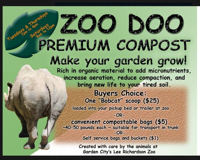 Zoo Doo Compost: Value Added Recycling – Greater Garden City