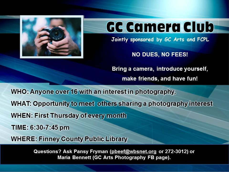 Camera Club @ Finney County Public Library