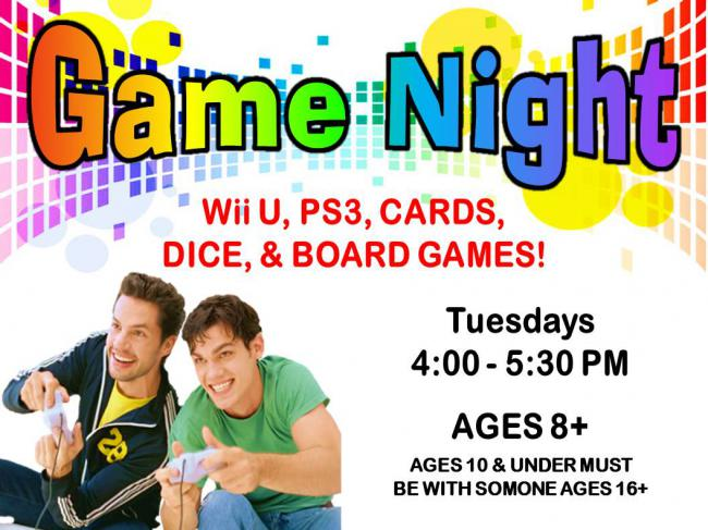 Game Night - Finney County Public Library @ Finney County Public Library