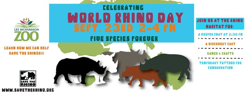 World Rhino Day @ Lee Richardson Zoo