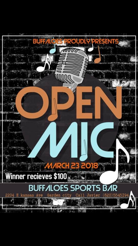 Open Mic Night @ Buffaloes Sports Bar & Grill