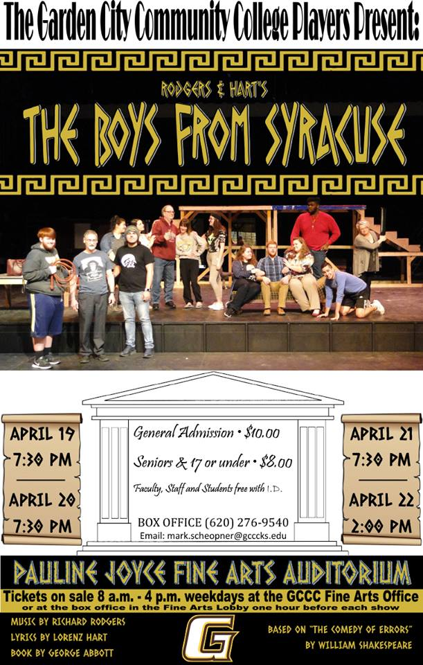GCCC Players - The Boys From Syracuse @ Pauline Joyce Fine Arts Auditorium