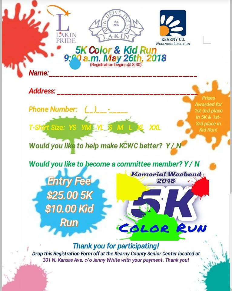 5K Color Run & Kids Run @ Lakin Airport
