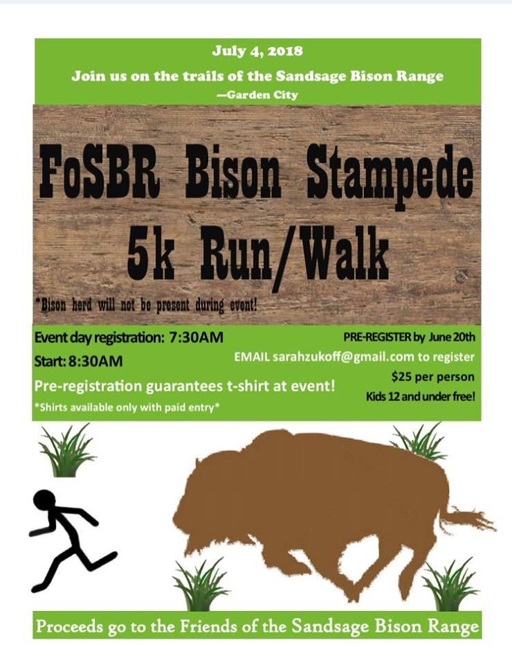 Bison Stampede 5K Run/Walk @ Sandsage Bison Range