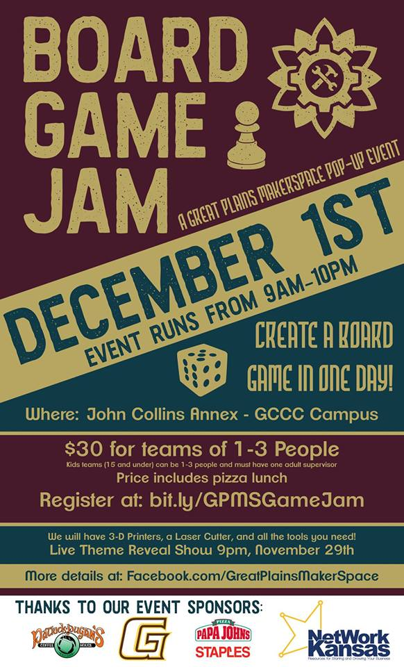 Board Game Jam @ GCCC John Collins Annex