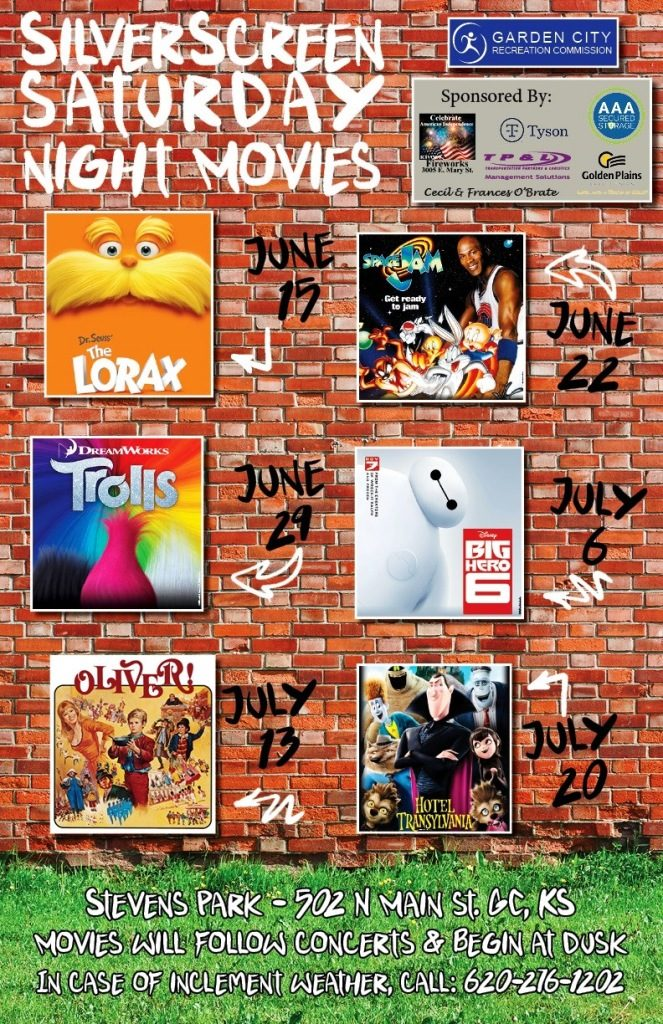 Silver Screen Saturday Night Movies - Space Jam @ Downtown Garden City/Stevens Park