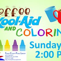 Coffee Kool-Aid and Coloring @ Finney County Public Library