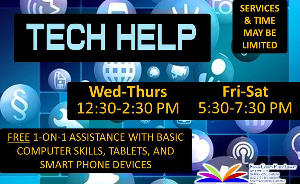 Tech Help @ Finney County Public Library
