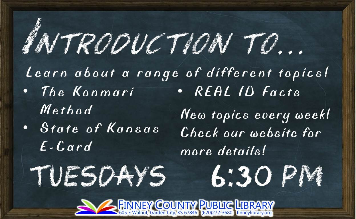 Introduction to... @ Finney County Public Library