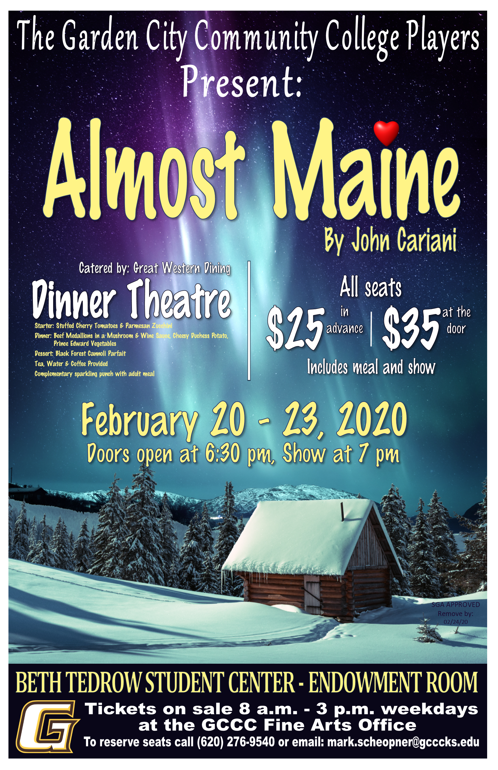 Dinner Theatre - Almost Maine @ GCCC - Pauline Joyce Fine Arts Building