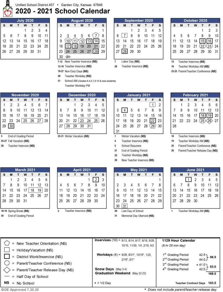 Board of Education Approves Updated 2020 2021 Calendar – Greater