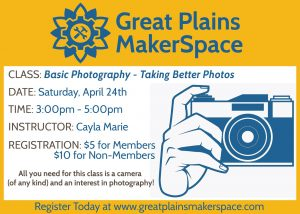 Basic Photography- Taking Better Photos @ Great Plains MakerSpace