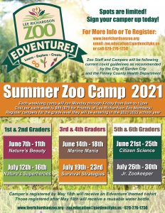 Zoo Camp- 5th & 6th grade @ Finnup Center for Conservation Education